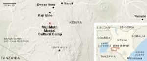 Map of Maasai camp