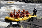 White-water rafting on the Mighty Zambezi.